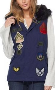 NWT Cheryl Crow Collection Anorak Patch Vest